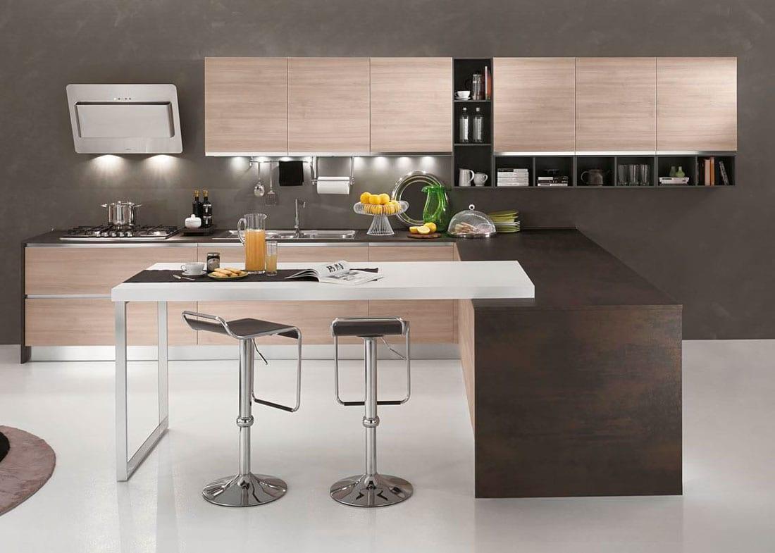 Una cucina senza maniglie permette di avere un design ...