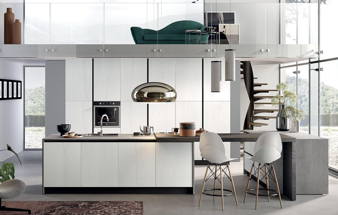 Cucina minimal chic con gli intramontabili bianchi e grigi ...