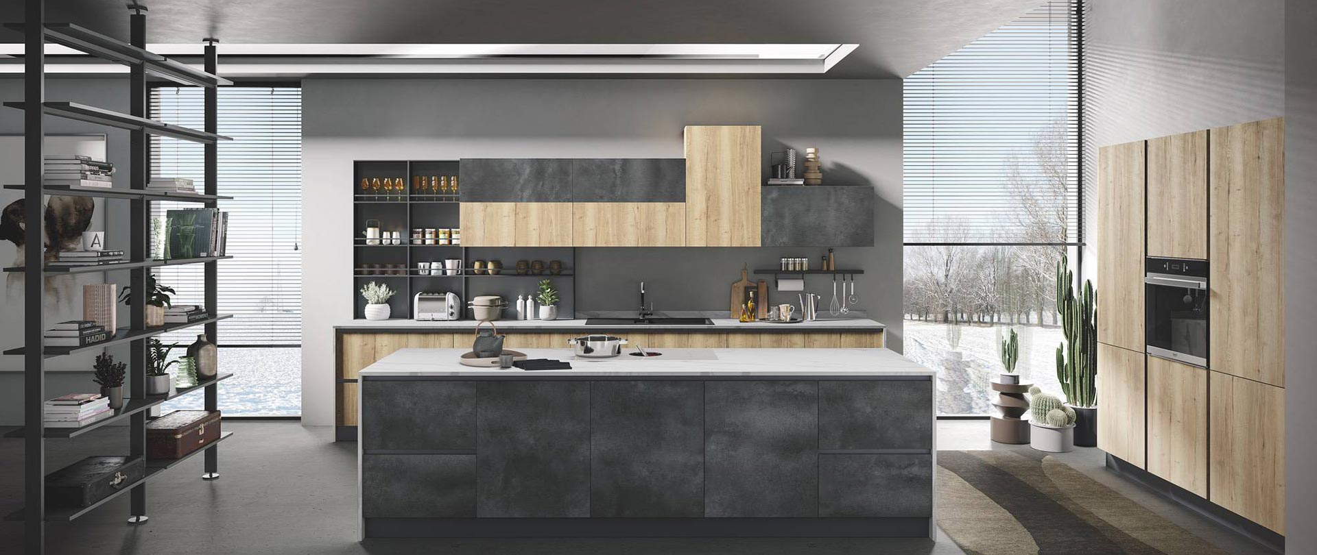 Cucina Open Space Moderna a kitchen with impeccable design: star