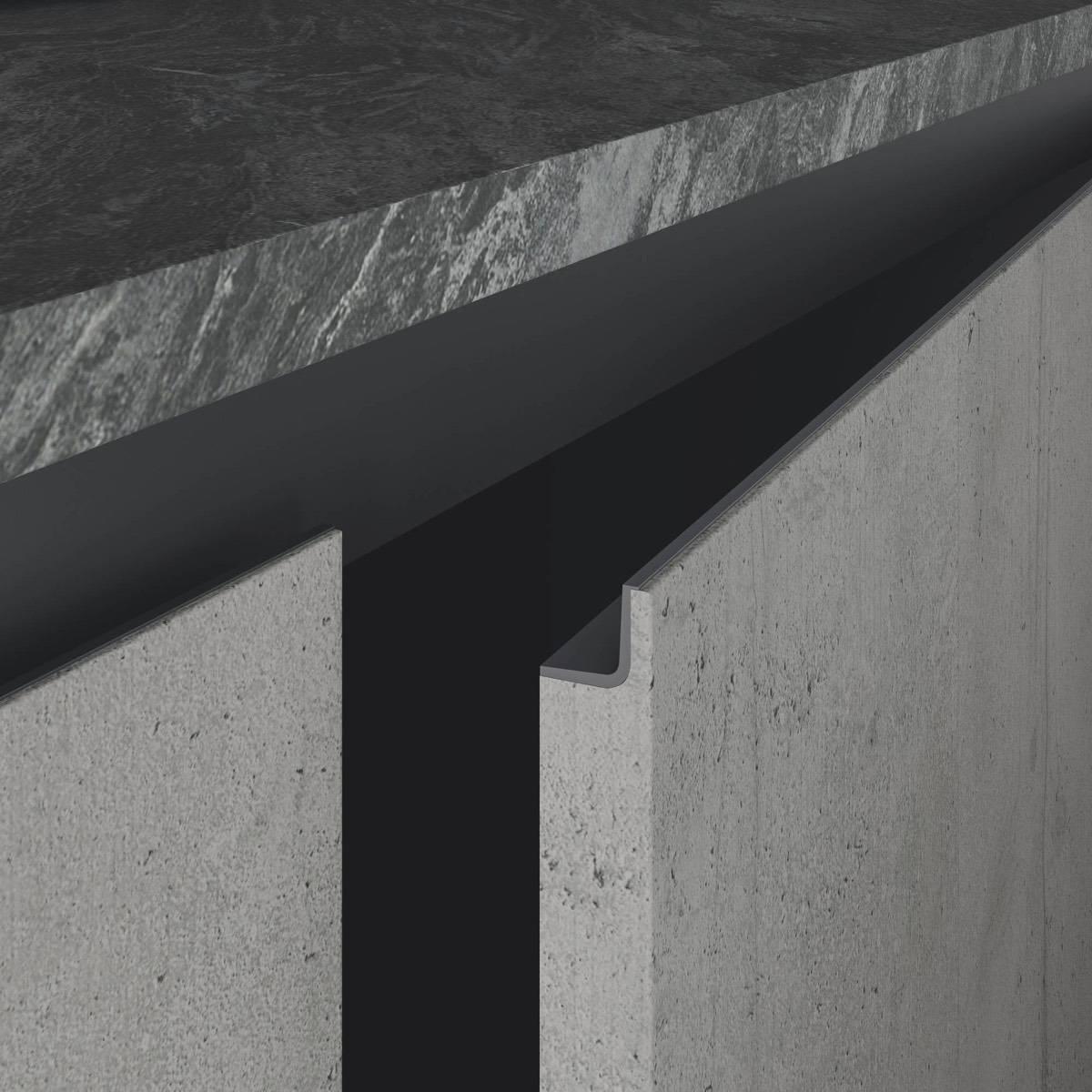 cucina moderna di design Star grigio tavolato terracotta