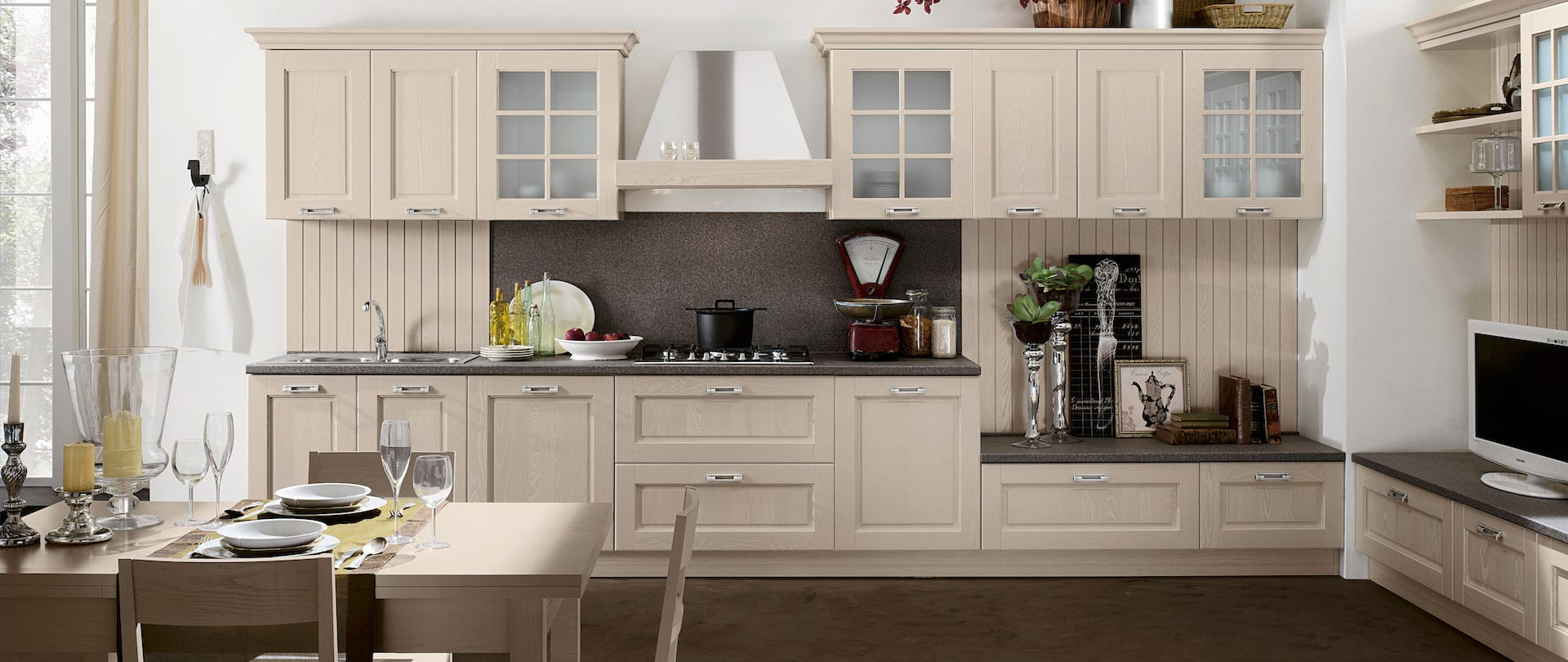 Old England kitchen, classic style, comfortable kitchens