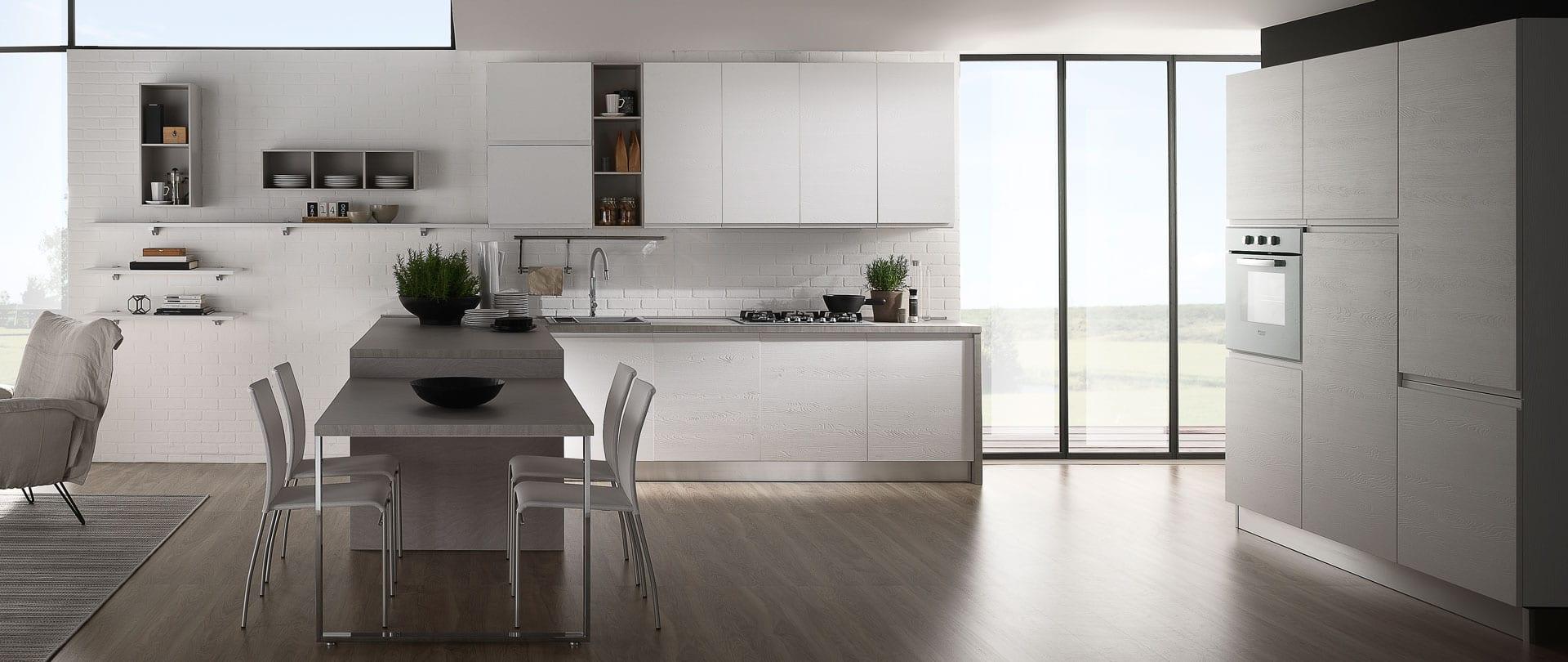 Cucina elegante: Luna, cucina con uno stile minimalista