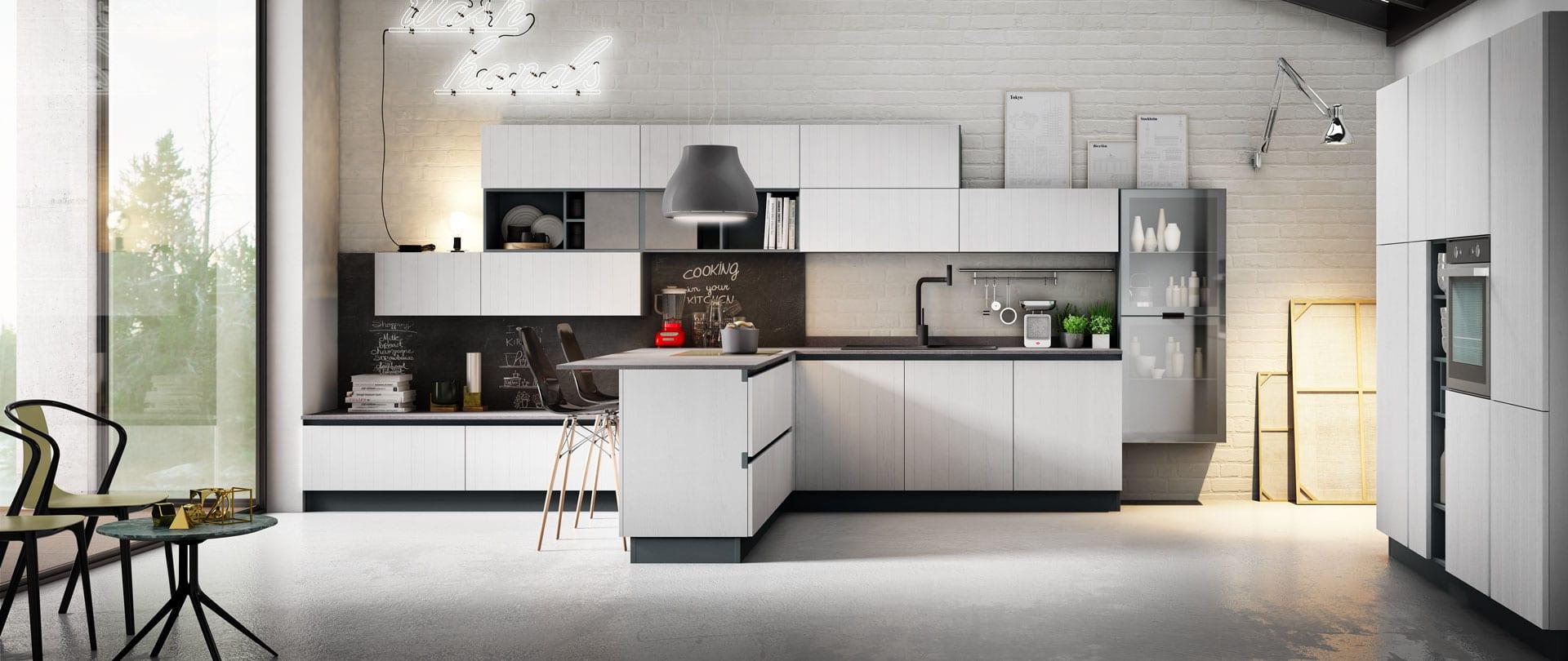 Una cucina funzionale, altamente tecnica e professionale ...