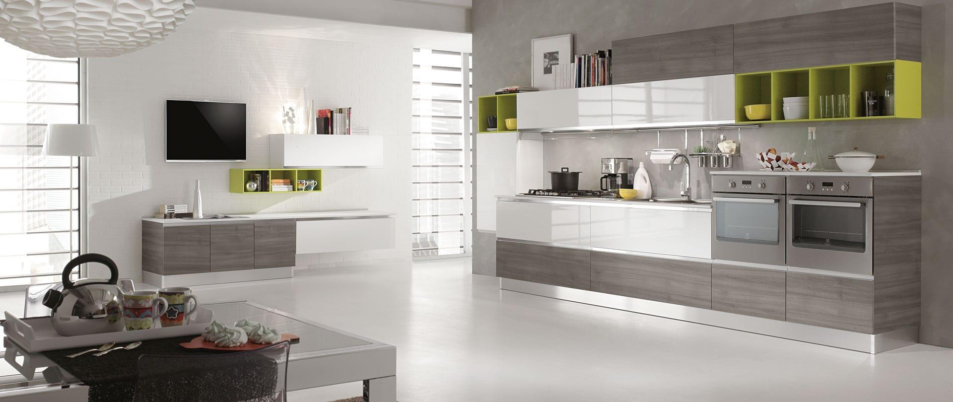 07-cucina-moderna-newmeg-tranche-argilla-bianco-lucido