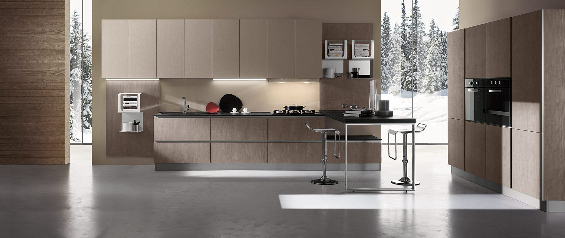 Contemporary kitchens. Stratos is our luxury line