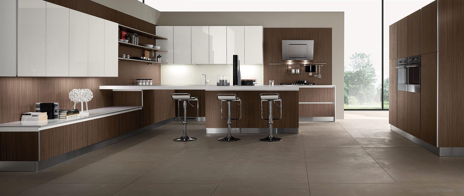 cucina-moderna-stratos-grainwood-castagno-glass-bianco