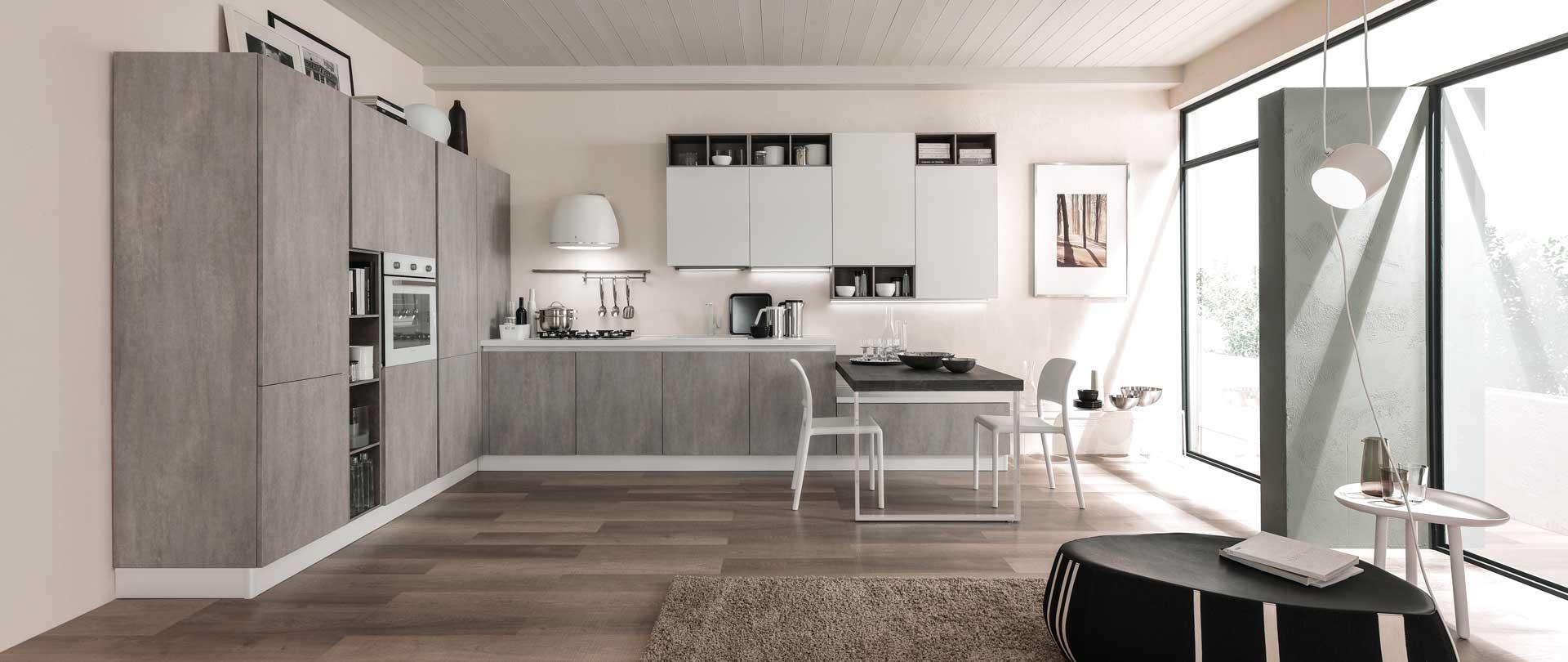 cucina-moderna-zen-argento-cemento-seta-bianco-opaco